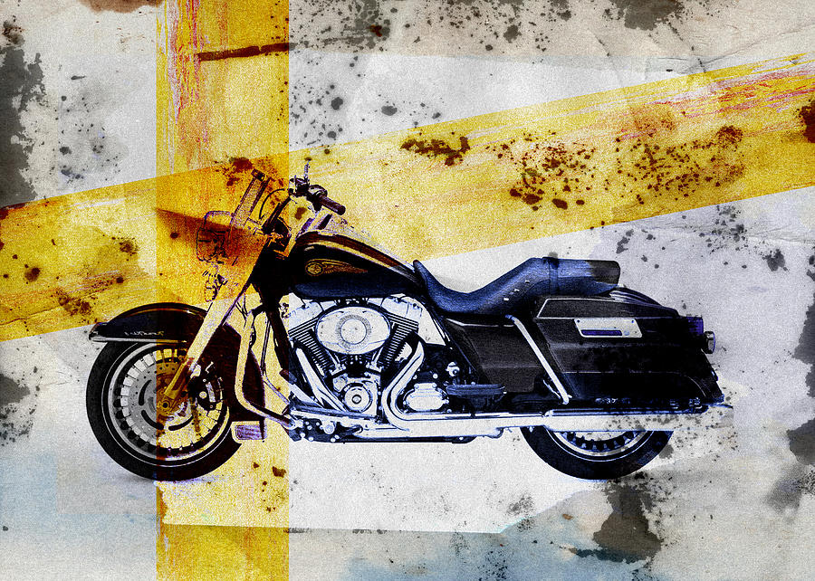 Harley Davidson Digital Art by David Ridley