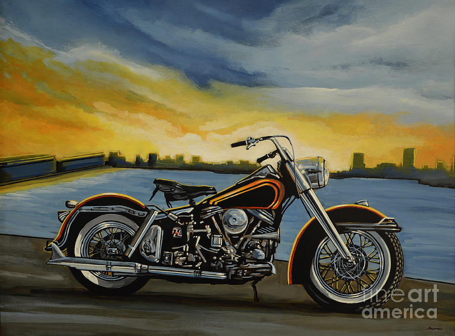 Harley Davidson Painting - Harley Davidson Duo Glide by Paul Meijering