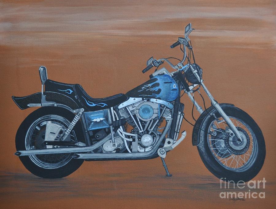 Harley Painting - Harley Davidson Dyna by Sally Rice