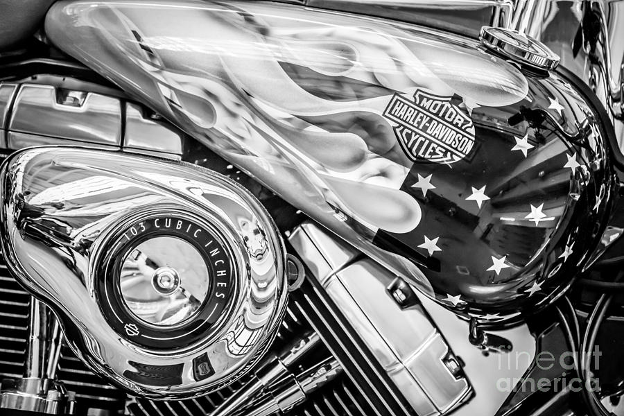 Harley Davidson Motorcycle Stars and Stripes Fuel Tank ...