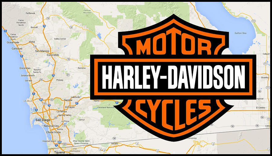 Harley-Davidson San Diego by Photographic Art by Russel Ray Photos