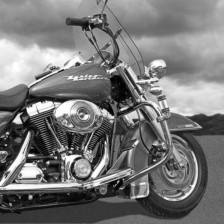 Harley Davidson Motorcycle Photograph - Harley Road King Custom by Gill Billington