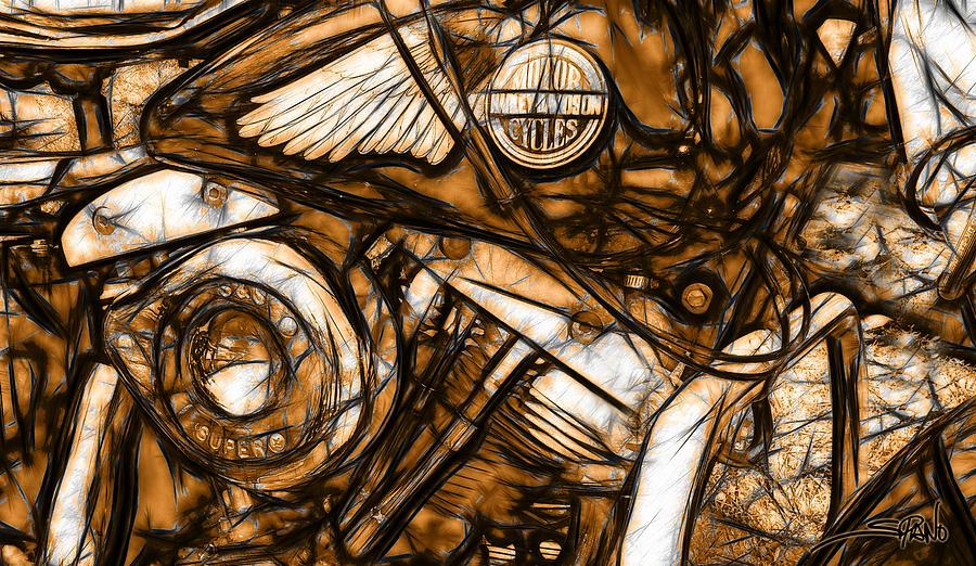Harley Shovelhead by Michael Spano
