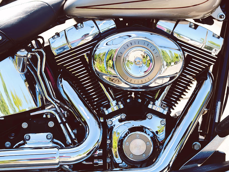 Motorcycle Photograph - Harley by Tracy W