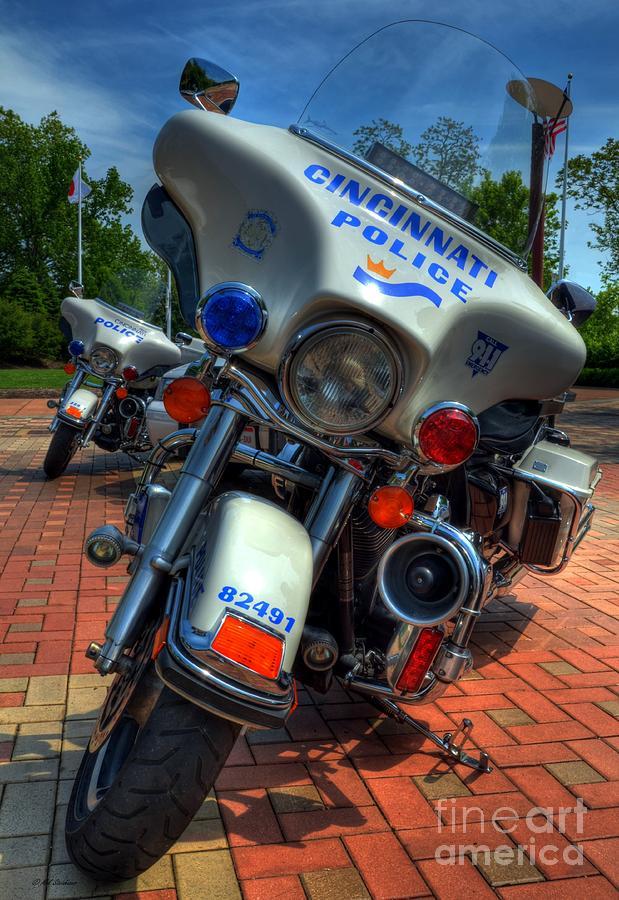 Cincinnati Photograph - Harleys In Cincinnati 1 by Mel Steinhauer