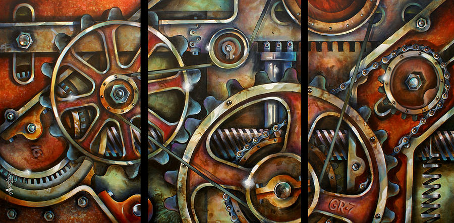Mechanical Painting - Harmony 7 by Michael Lang