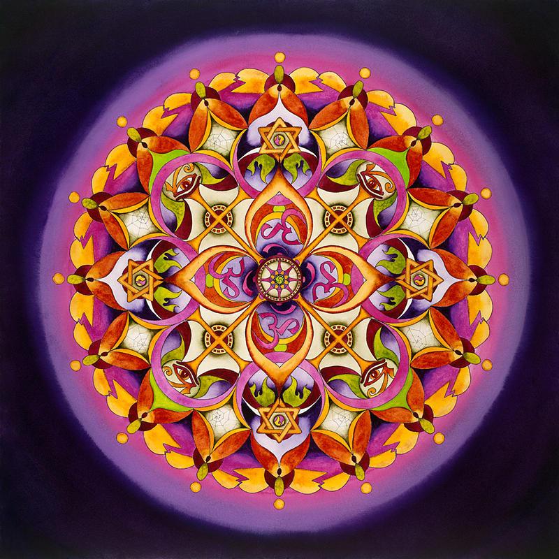 Harmony - Crown Chakra Mandala Painting by Vikki Reed