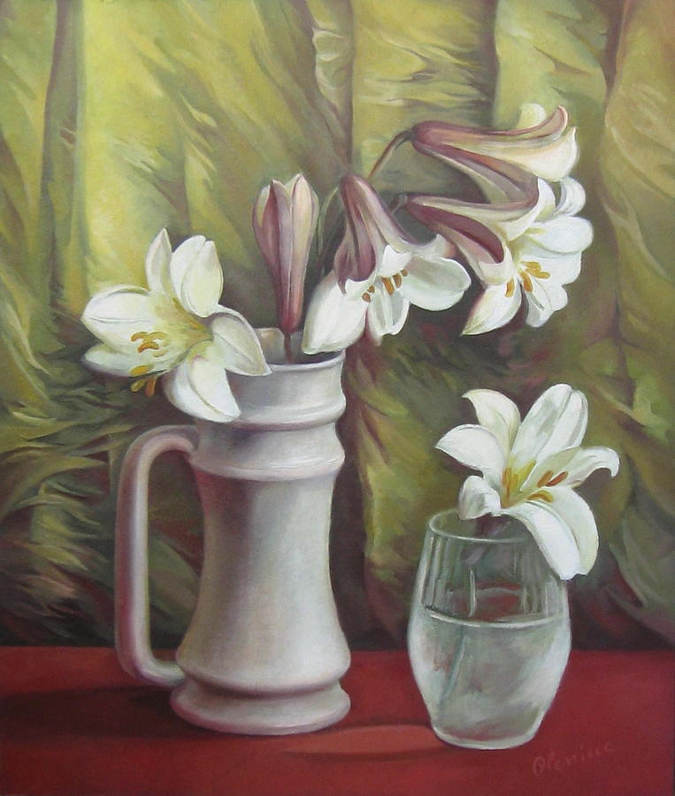 Lily Painting - Harmony by Elena Oleniuc