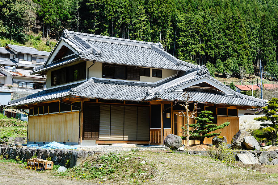 japanese style house plans harmony of wood typical japanese country house in forest 19077