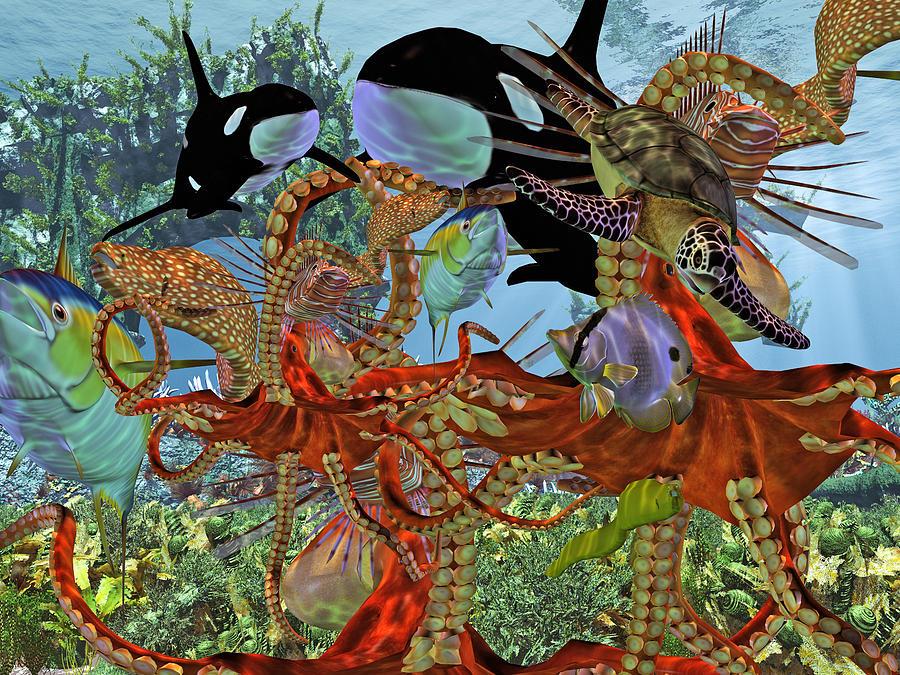 Sea Digital Art - Harmony Under The Sea by Betsy Knapp
