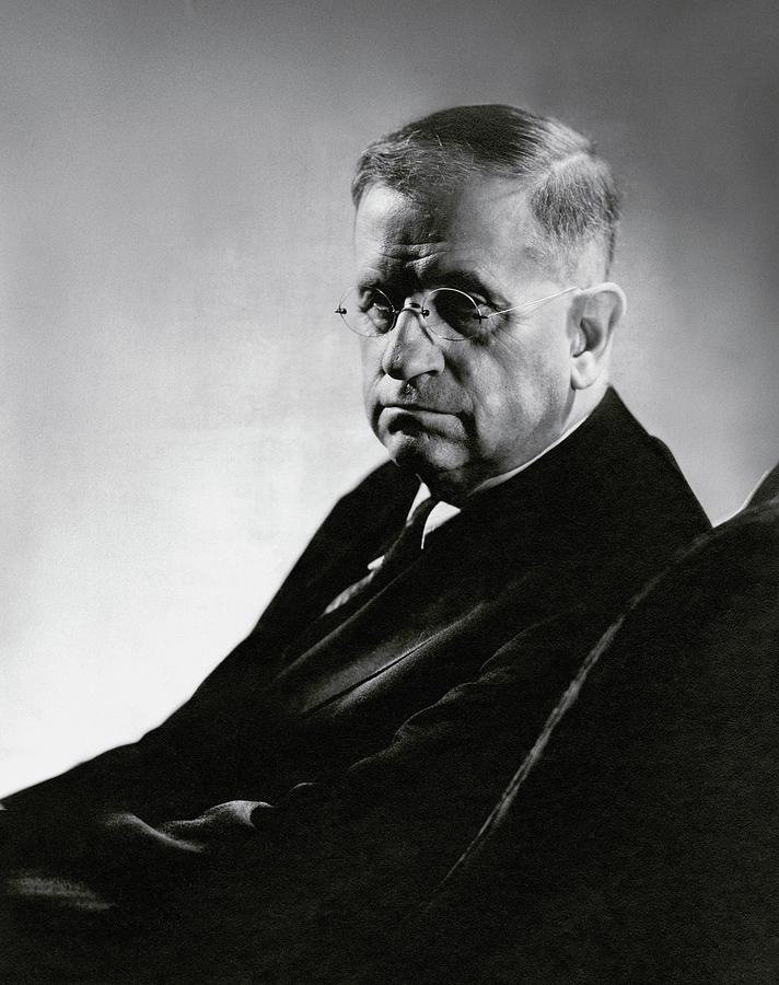 Harold L. Ickes Wearing Glasses Photograph by Lusha Nelson