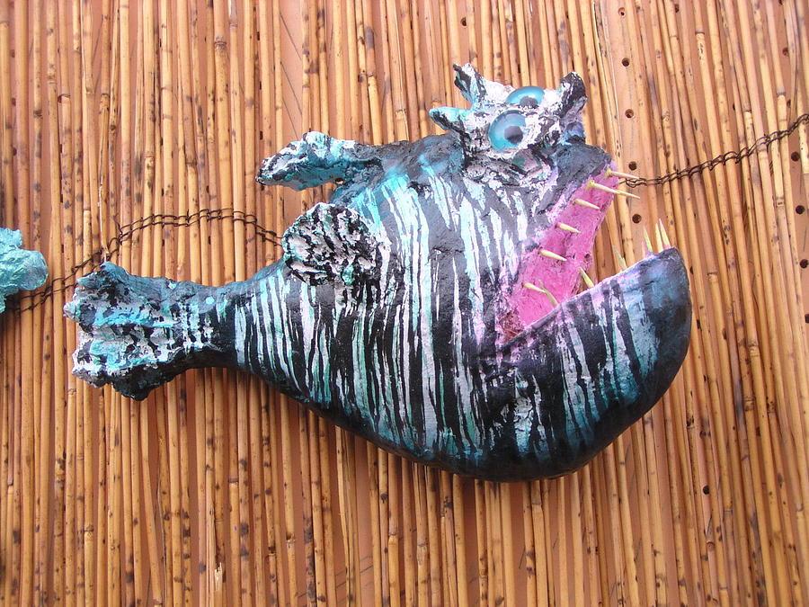 Paper Mache Sculpture - Harold The Hatchet Fish by Dan Townsend