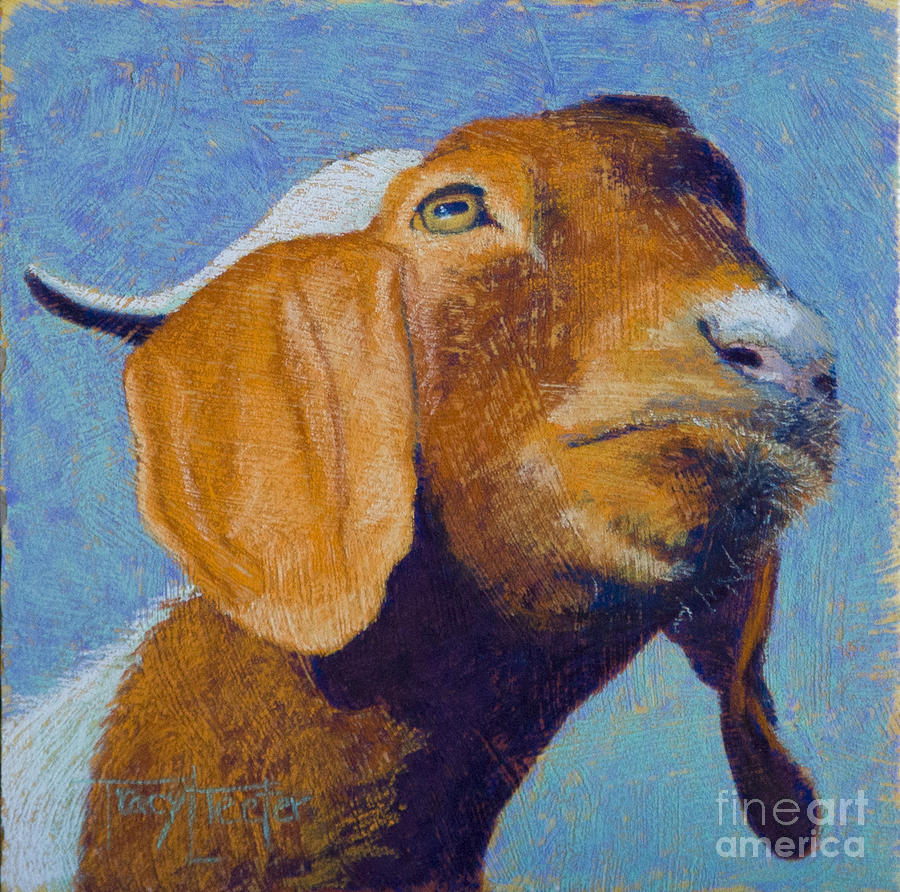 Goat Pastel - Harold by Tracy L Teeter