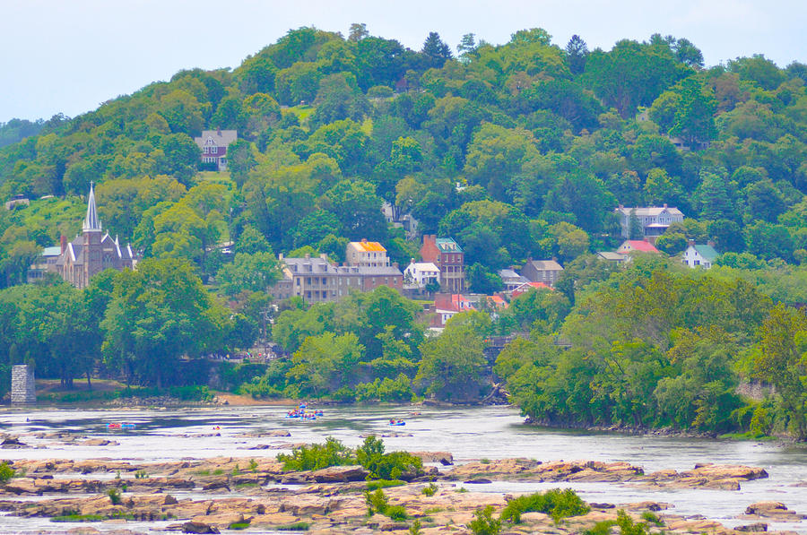 Harpers Photograph - Harpers Ferry View by Bill Cannon