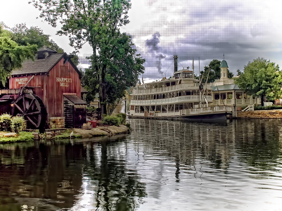 Disney Photograph - Harpers Mill by Wayne Gill