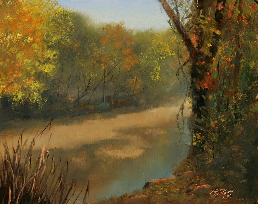 Harpeth River Painting - Harpeth At Carnton by Tommy Thompson