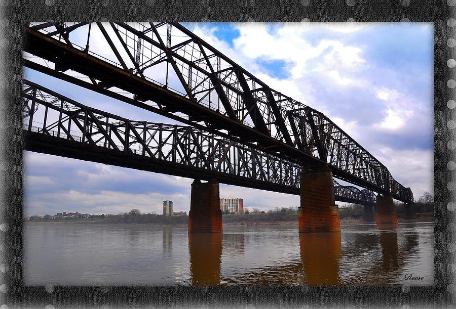 Bridges Photograph - Harrahan Railroad Bridges by Reese Lewis