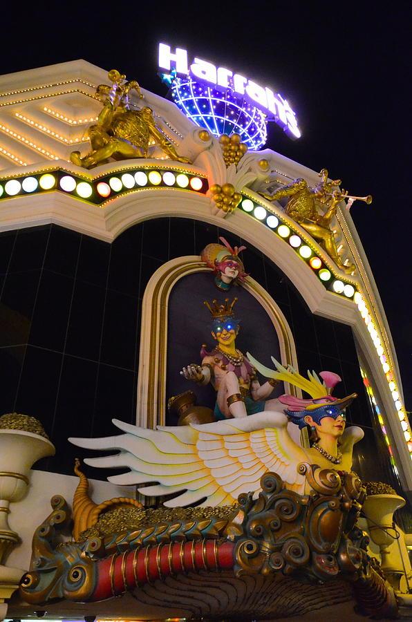 Vegas Photograph - Harrahs by Michael Anthony