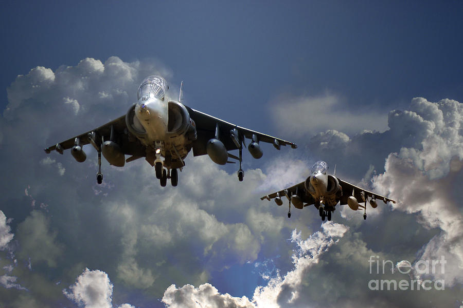 Harrier Approach Digital Art