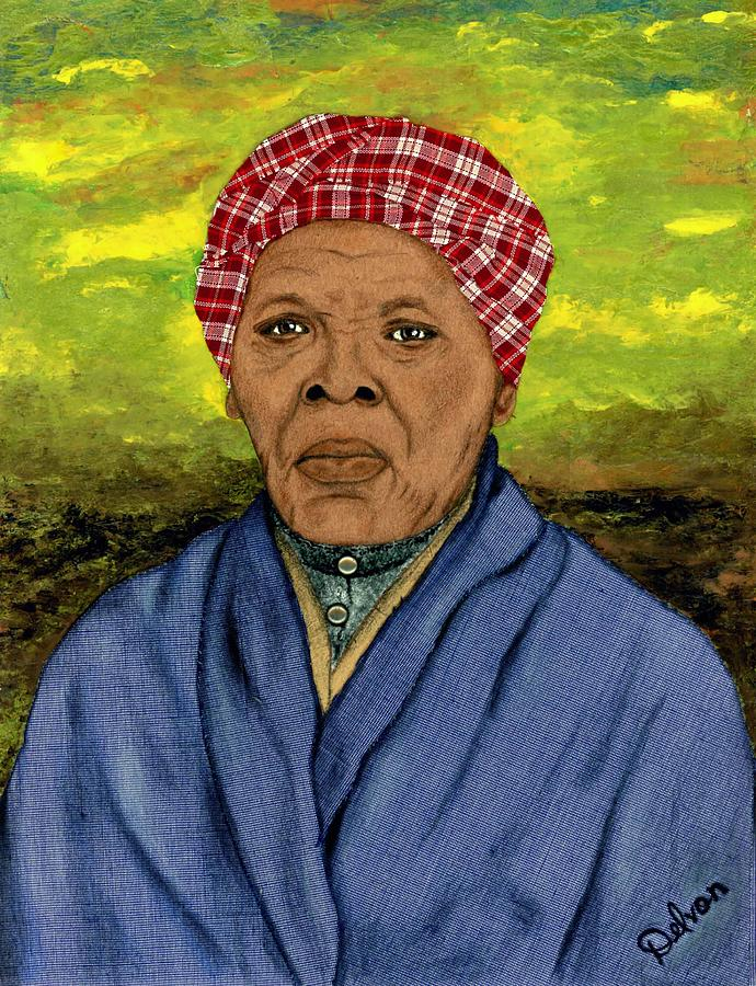 Mixed Media Painting - Harriet by Delvon