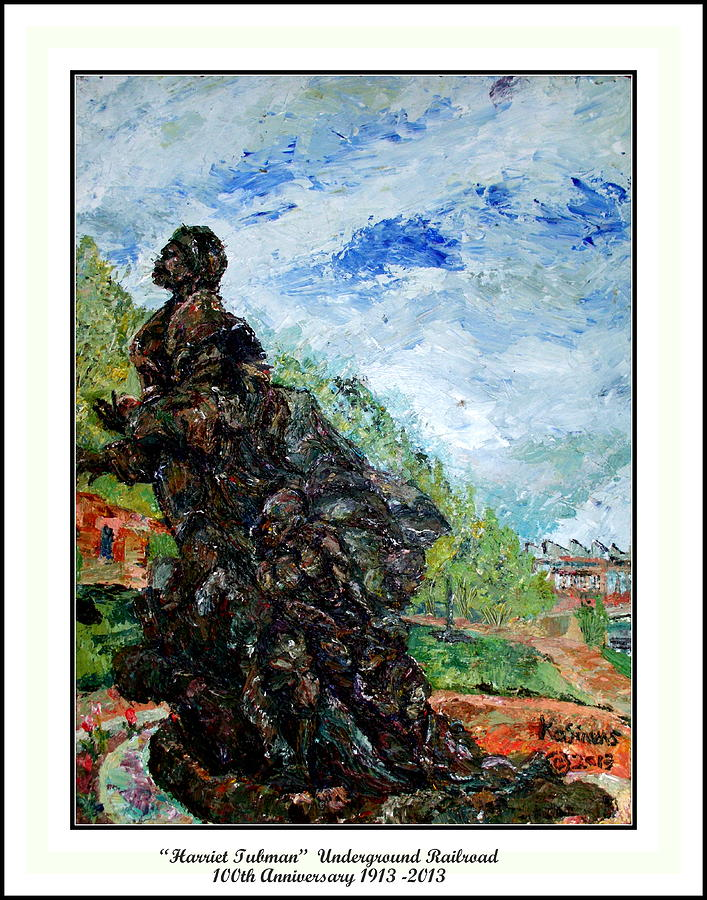 Underground Painting - Harriet Tubman-underground Railroad by Keith OBrien Simms
