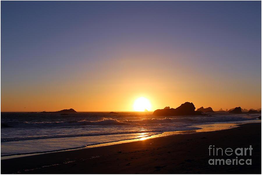 Sunset Photograph - Harris Beach by Irina Hays