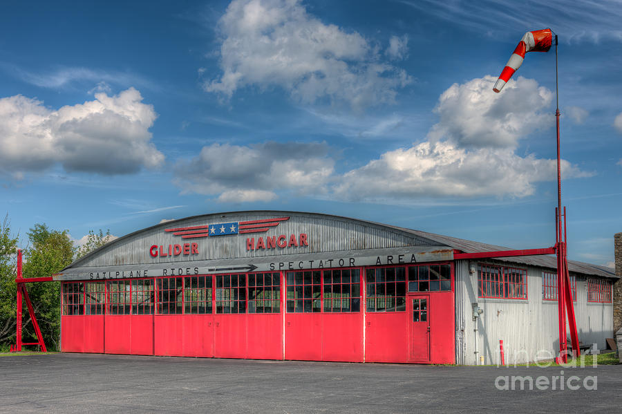 America Photograph - Harris Hill Glider Hangar I by Clarence Holmes