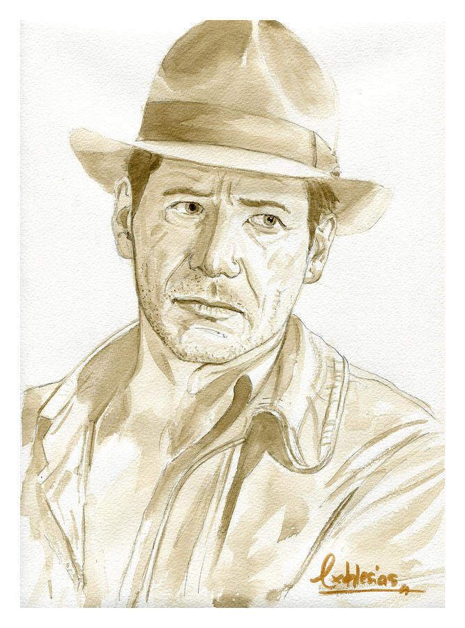 Portrait Painting - Harrison Ford by David Iglesias