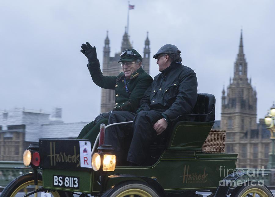 Harrods Veteran Car Driver Photograph by Philip Pound