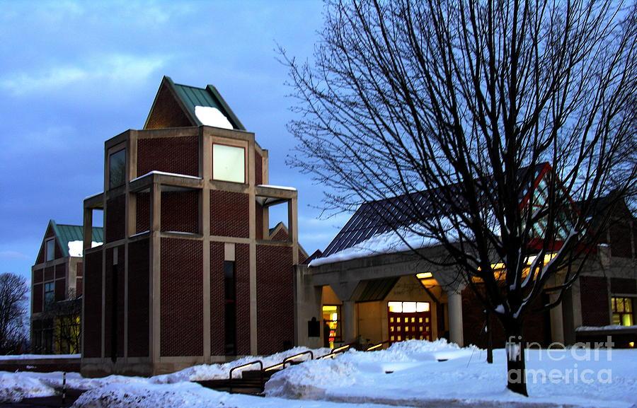 Muhlenberg College Photograph - Harry C Trexler Library - Muhlenberg College by Jacqueline M Lewis