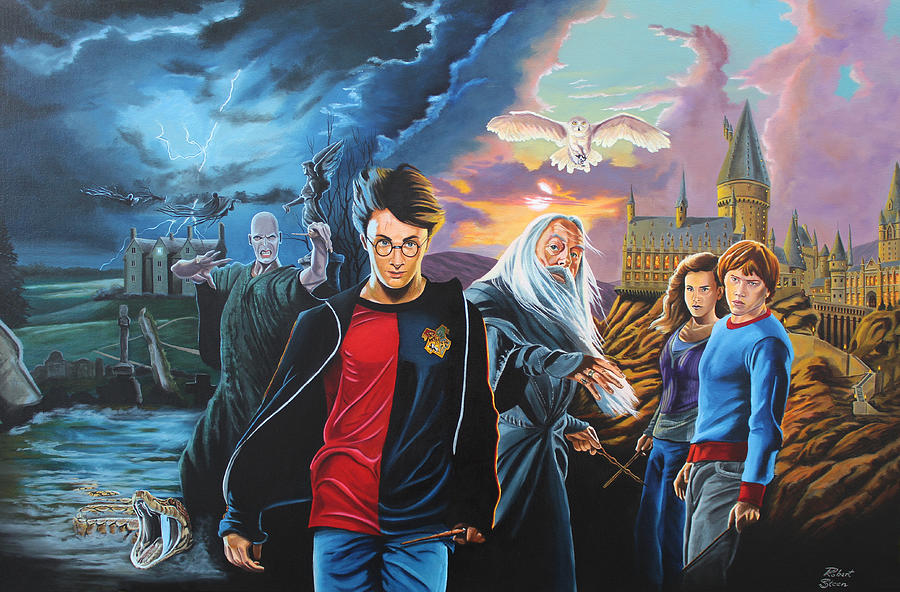 Harry Potter S World Painting By Robert Steen
