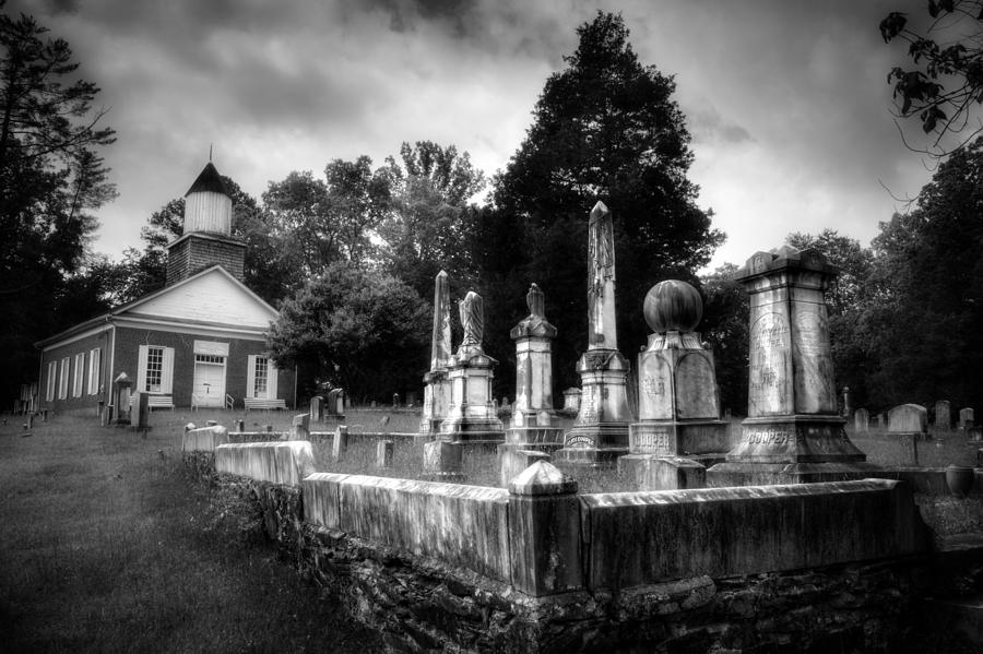 Harshaw Chapel And Cemetery In Black And White Photograph ...