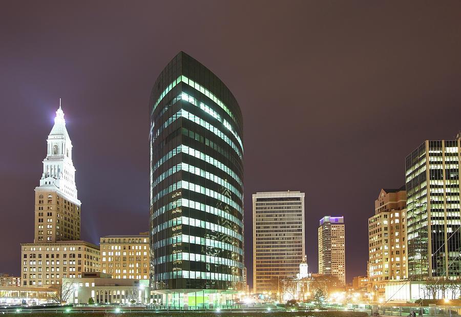 Hartford At Night Photograph by Denistangneyjr