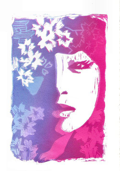 Print Making Painting - Haru by Vanessa Baladad