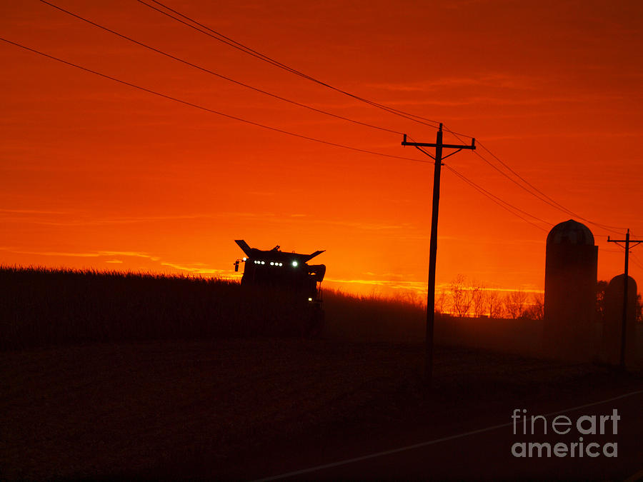 Harvest at Sunset by Rural America Scenics
