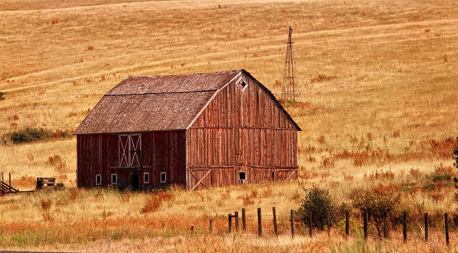 Barn Photograph - Harvest Barn by Mary Jo Allen