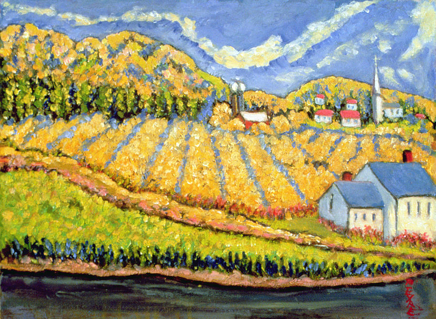 Crop Painting - Harvest St Germain Quebec by Patricia Eyre