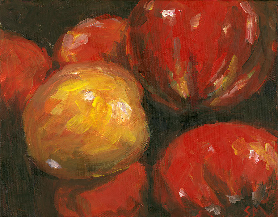 Peppers Painting - Harvest by Susan Moore