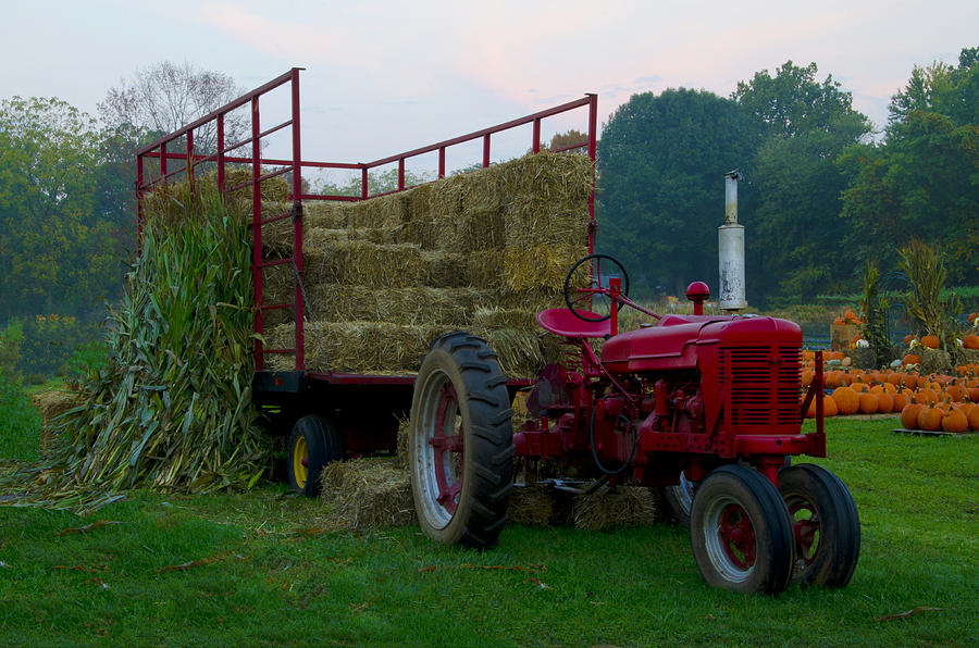 Harvest Photograph - Harvest Time Tractor by Bill Cannon