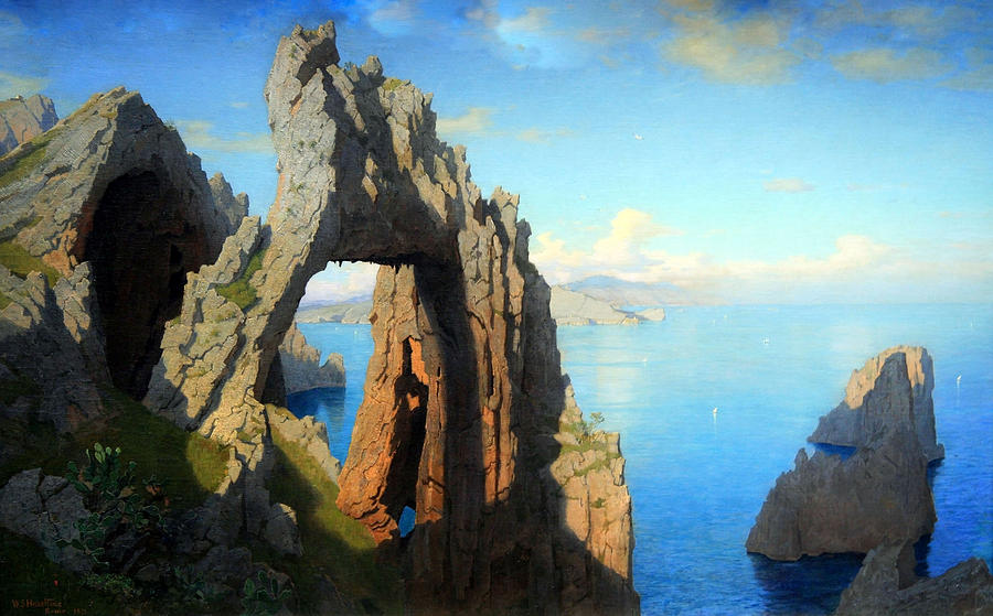 Painting Photograph - Haseltines Natural Arch At Capri by Cora Wandel