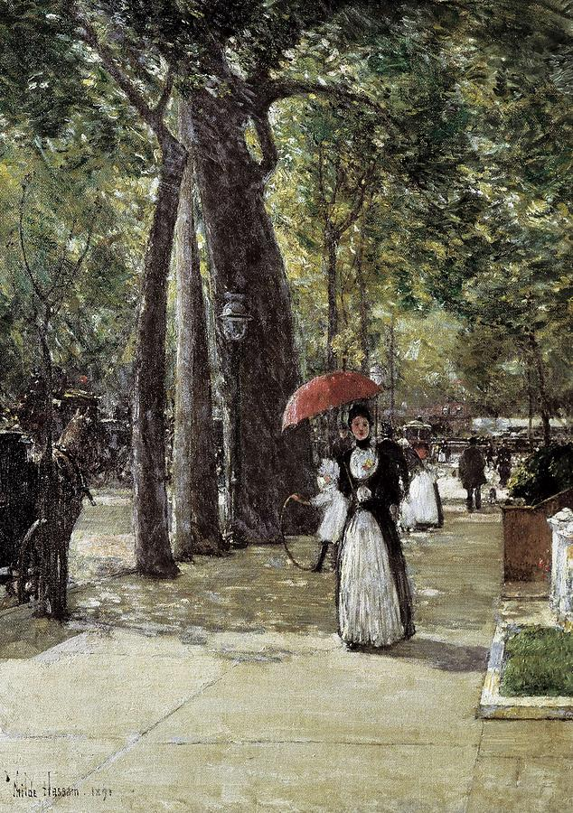 Vertical Photograph - Hassam, Childe 1859-1935. Fifth Avenue by Everett