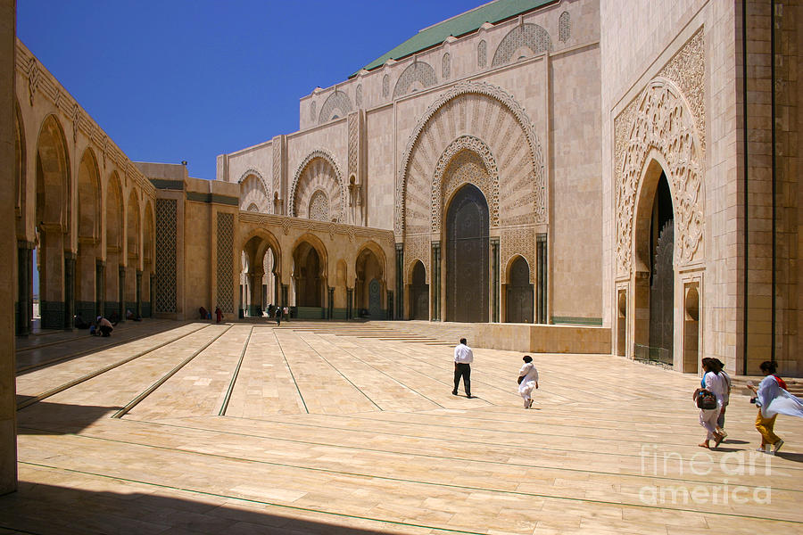 Colonnades Photograph - Hassan II Mosque Grand Mosque Sour Jdid Casablanca Morocco by PIXELS  XPOSED Ralph A Ledergerber Photography