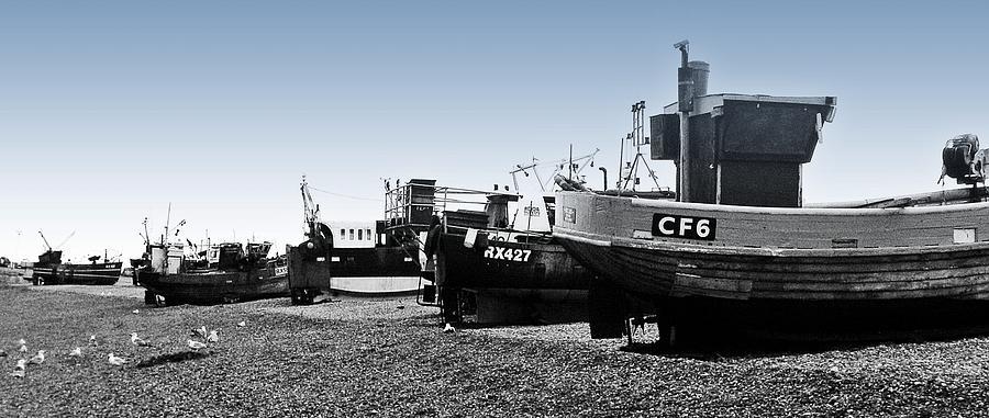 Fishing Boats Photograph - Hastings Fleet by Sharon Lisa Clarke