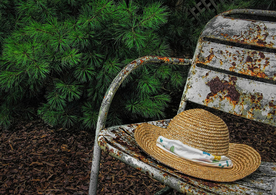Hat Photograph - Hat On Chair1 by Tom  Reed