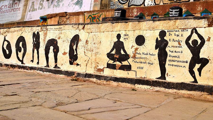 Hatha Yoga Wall Art - Varanasi India Photograph by Kim Bemis