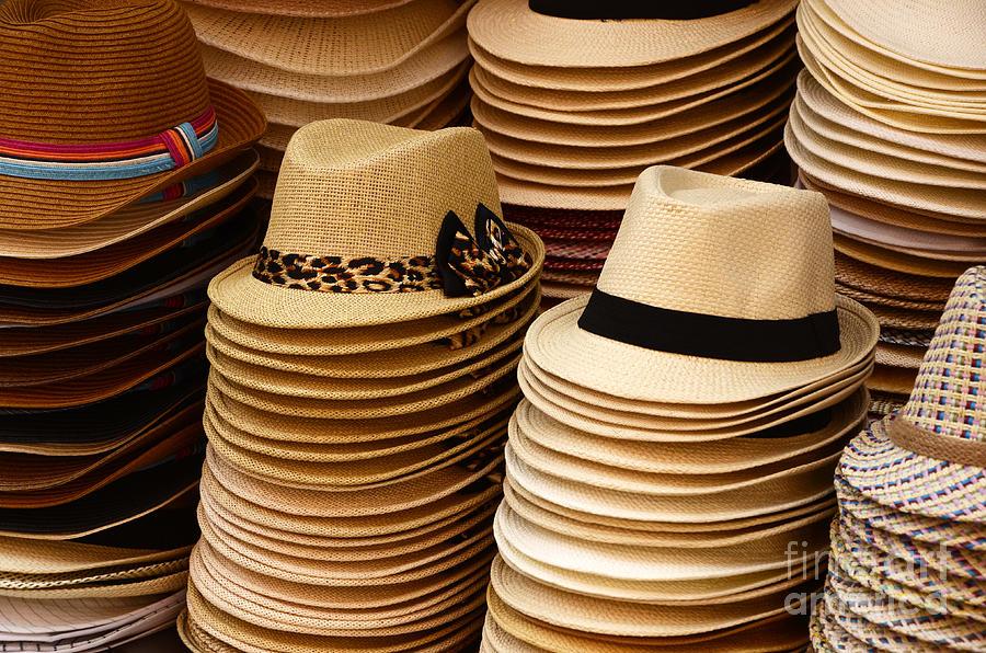 Hat Photograph - Hats For Sale Salvador Brazil by Bob Christopher