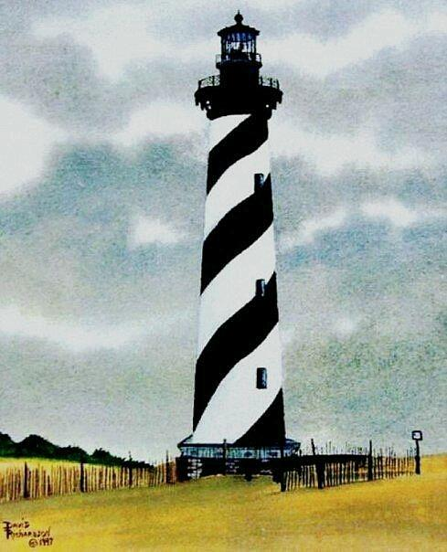 Lighthouse Painting - Hatteras Light by David Richardson