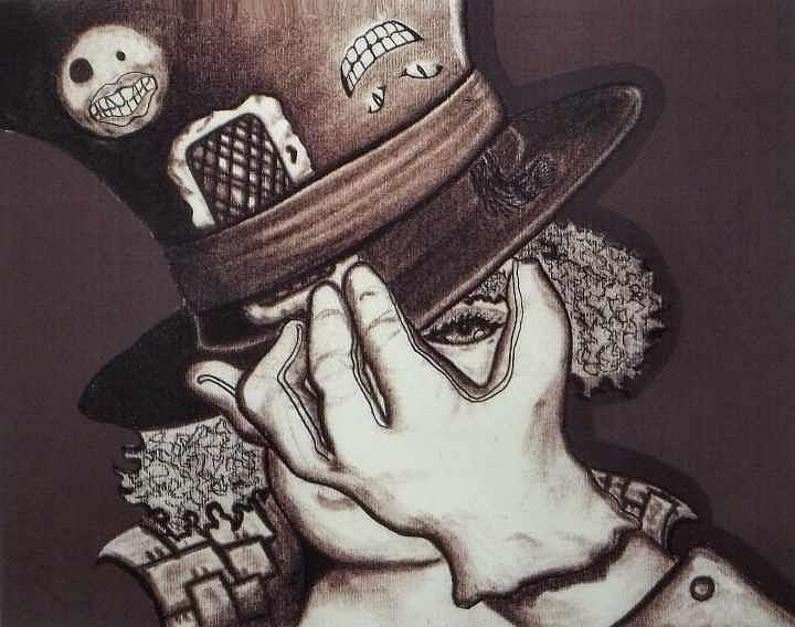 Mad Hatter Drawing - Hatters Madness by Cortney Haynes