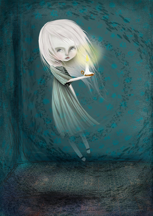 Little Girl Digital Art - Haunt by Jessica Von Braun