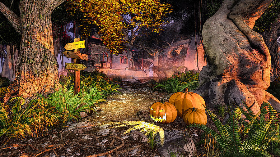 Haunted House Digital Art
